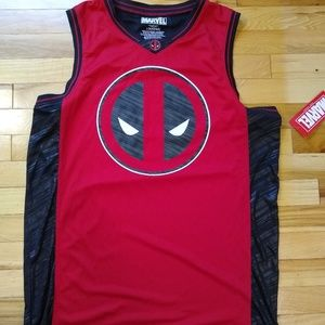 NWT Marvel Spiderman Deadpool 91 Jersey Size Large